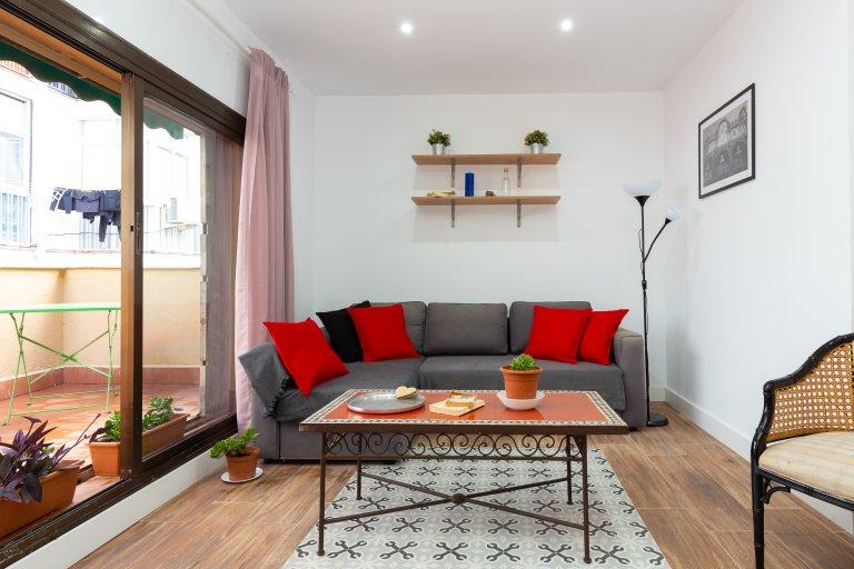 Poble Sec, Barcelona kiralık süper stüdyo daire