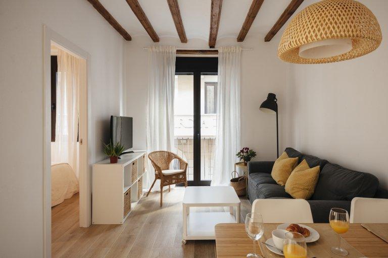 Piękne 2-pokojowe mieszkanie do wynajęcia w Gòtic, Barcelona