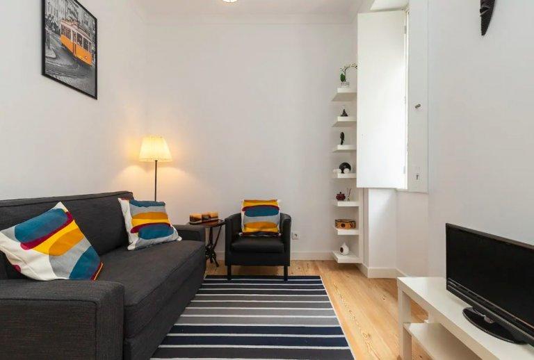 Apartamento com 1 quarto brilhante para arrendar em Arroios, Lisboa