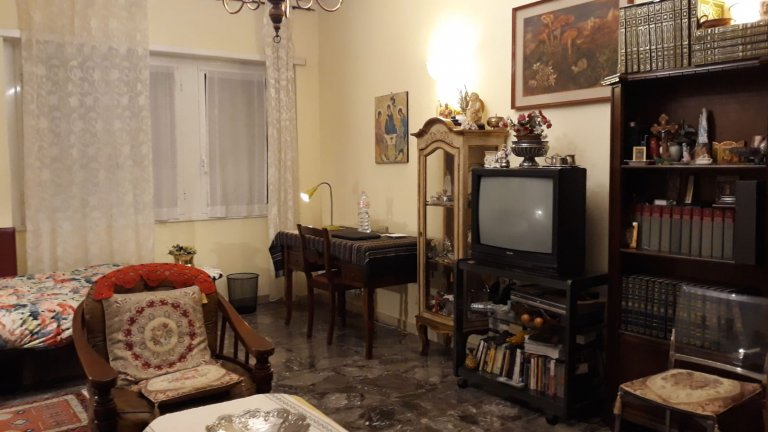 Ornate room in apartment in Appio Latino, Rome