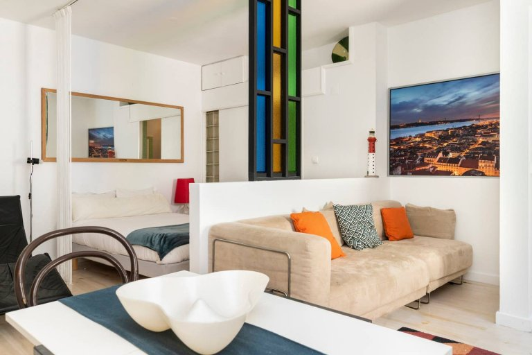 Studio apartment for rent in Bairro Alto, Lisbon