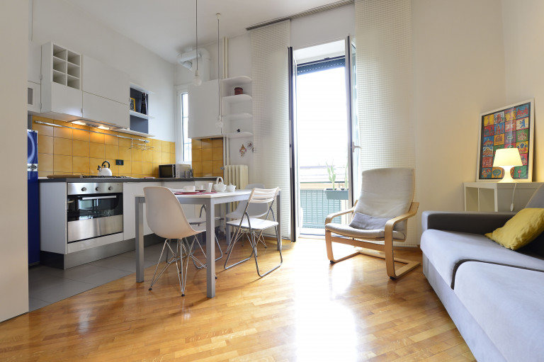 Stylish 1-bedroom apartment for rent in Dergano, Milan