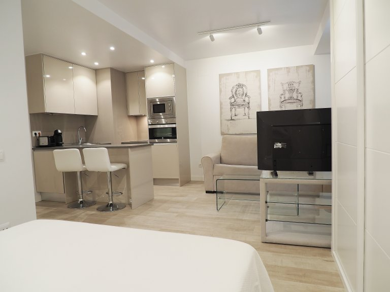 Exquisite studio apartment for rent in Chueca, Madrid