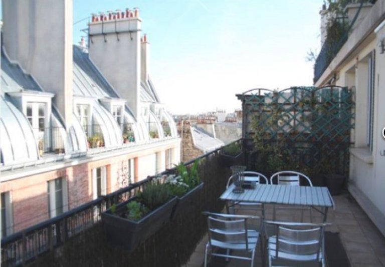 Appartamento con 1 camera da letto in affitto a Parigi 18