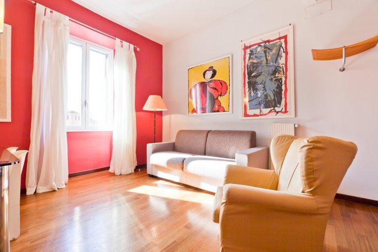 Mutige 2-Zimmer-Wohnung zur Miete in Trastevere, Rom