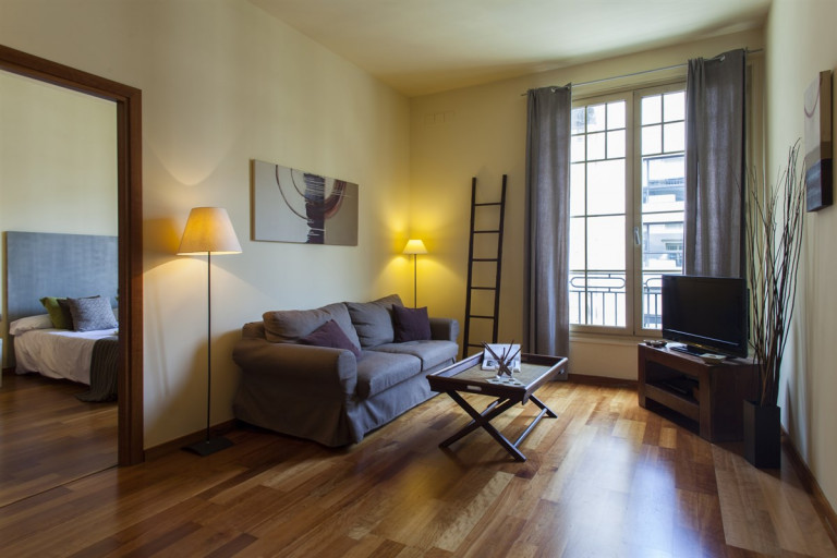 Relaxed 2-bedroom apartment near city center for rent in El Born