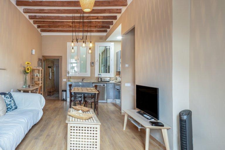 Elegant 1-bedroom apartment for rent in El Born, Barcelona