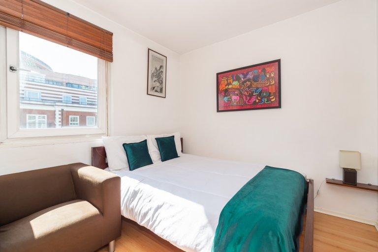 Jasny pokój do wynajęcia w trzypokojowym mieszkaniu w City of Westminster