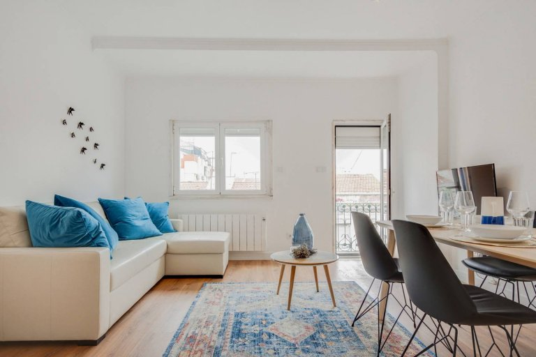 Apartamento de 1 quarto para alugar em Campo de Ourique, Lisboa.