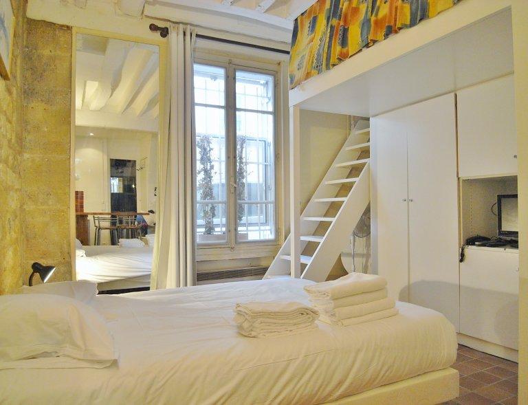 Grazioso monolocale in affitto nel 4 ° arrondissement