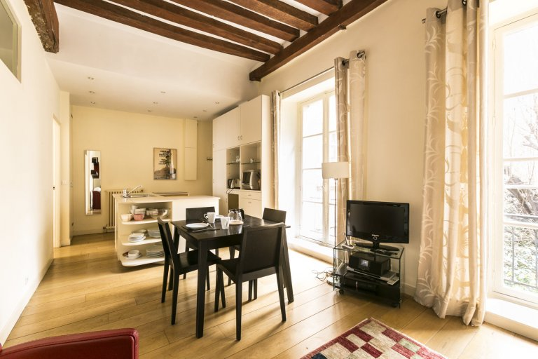 Wyrafinowany, jasny 2-pokojowy apartament do wynajęcia w Paryżu