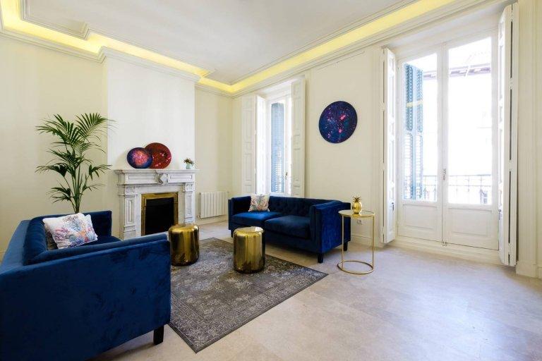 Grand 5-pokojowe mieszkanie do wynajęcia w Centro, Madryt