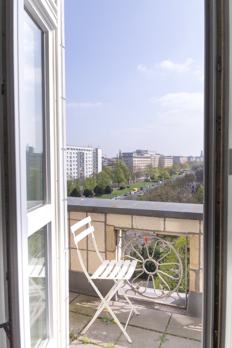 Sophisticated 1-bedroom apartment for rent in Friedrichshain
