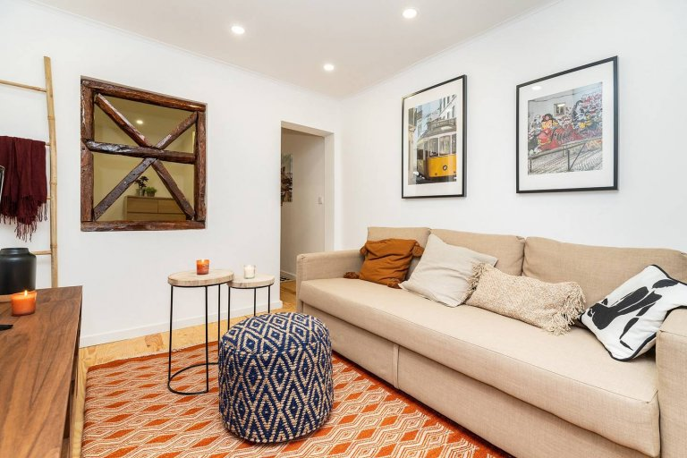 Apartamento de 1 quarto para alugar em Principe Real, Lisboa