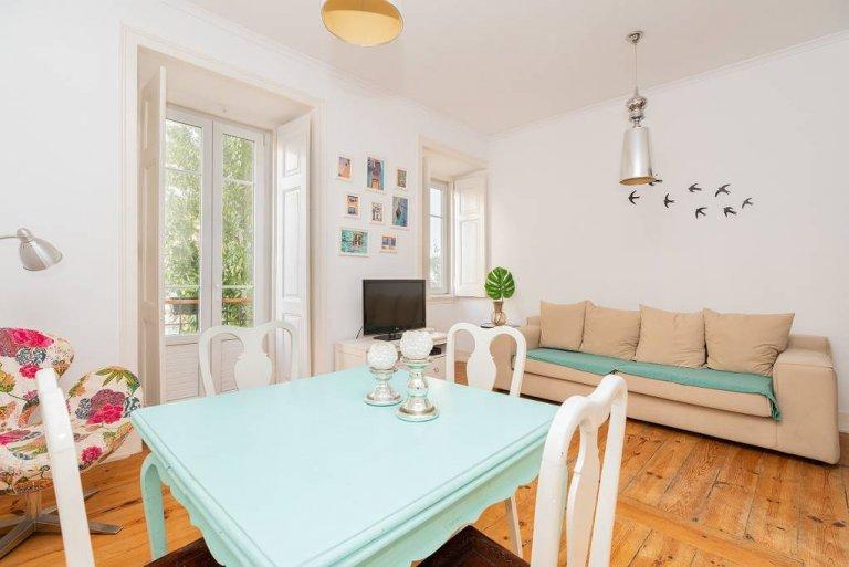 Grand appartement de 3 chambres à louer à Arroios, Lisbonne