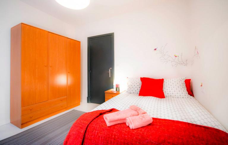 Double Bed in Rooms for rent in 4-bedroom apartment in Bilbao la Vieja