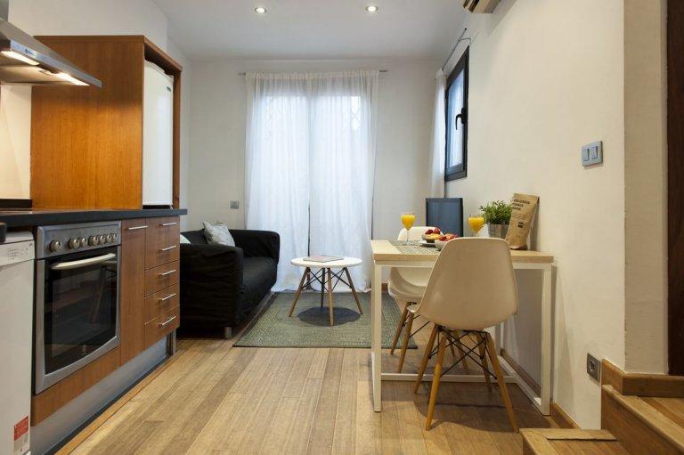 Elegancki apartament z 1 sypialnią do wynajęcia w El Born, Barcelona