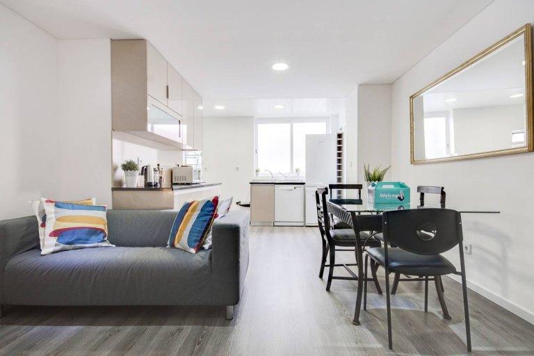 Swish Appartement de 3 chambres à louer à Arroios, Lisbonne