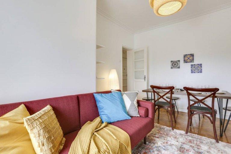 Bellissimo appartamento con 3 camere da letto in affitto a Belém, Lisbona