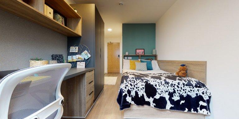 Habitación con baño en una residencia de estudiantes en Walthamstow