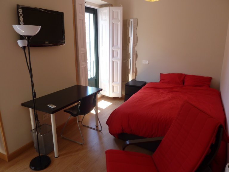 Spacious room in shared apartment in Malasaña, Madrid