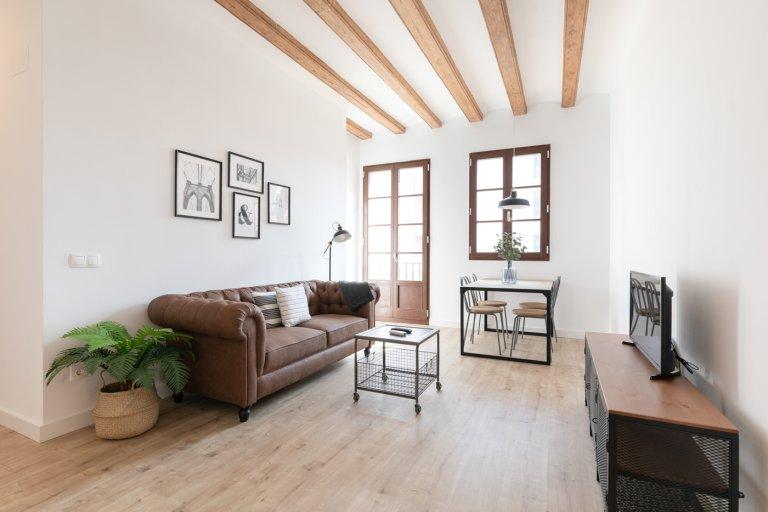 Stilvolles Apartment mit 1 Schlafzimmer in El Raval, Barcelona