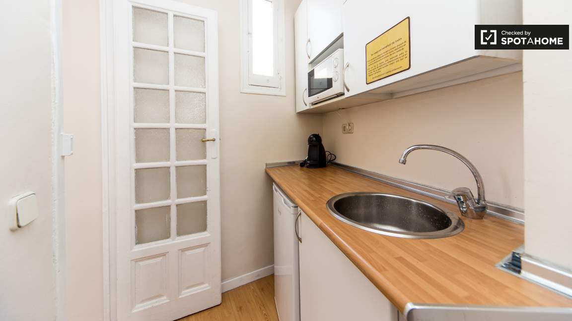Kitchen near the library