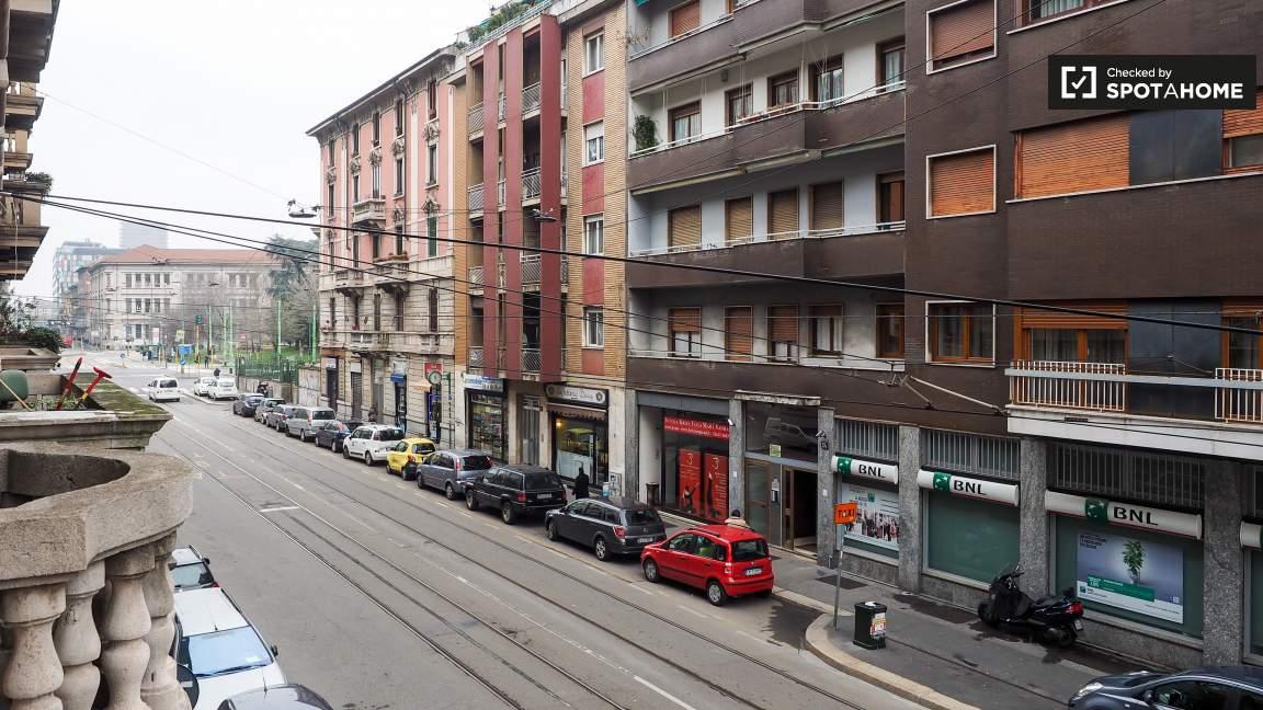 Exterior balconies view