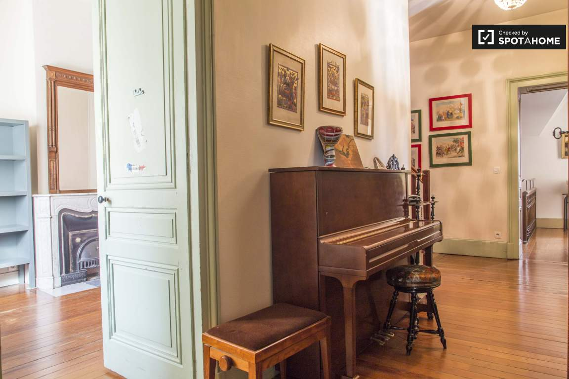 Piano in the hallway