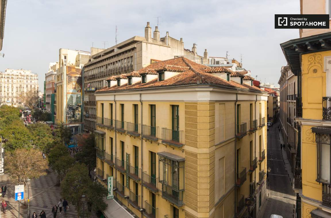 Balcony view of Gran Via
