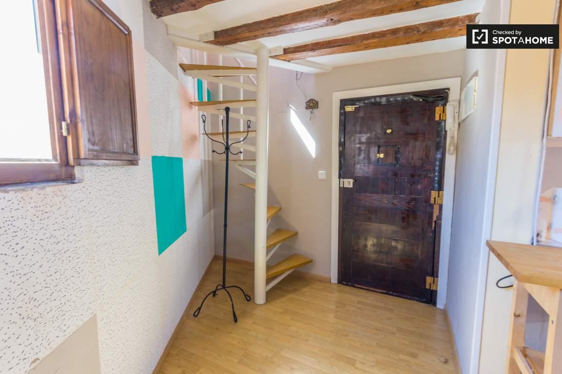 Main door and stairs to Bedroom #2