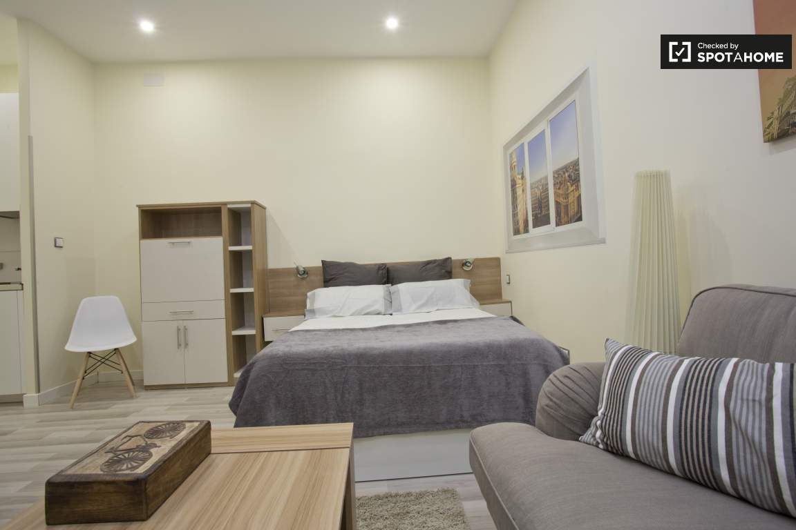 double bed straight on view