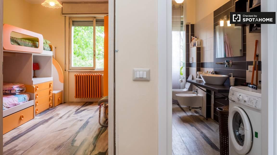 Bedroom 1 and Bathroom