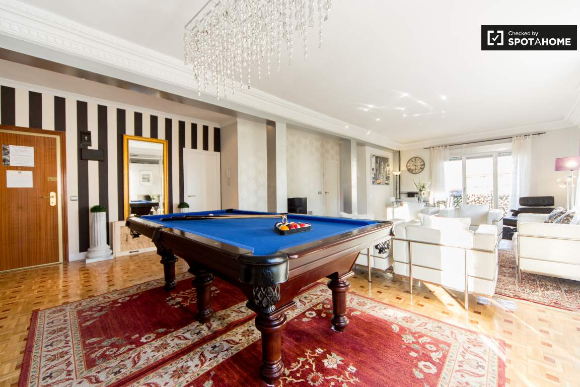Area of the Living Room with pool table