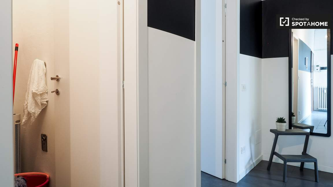 Corridor and closet