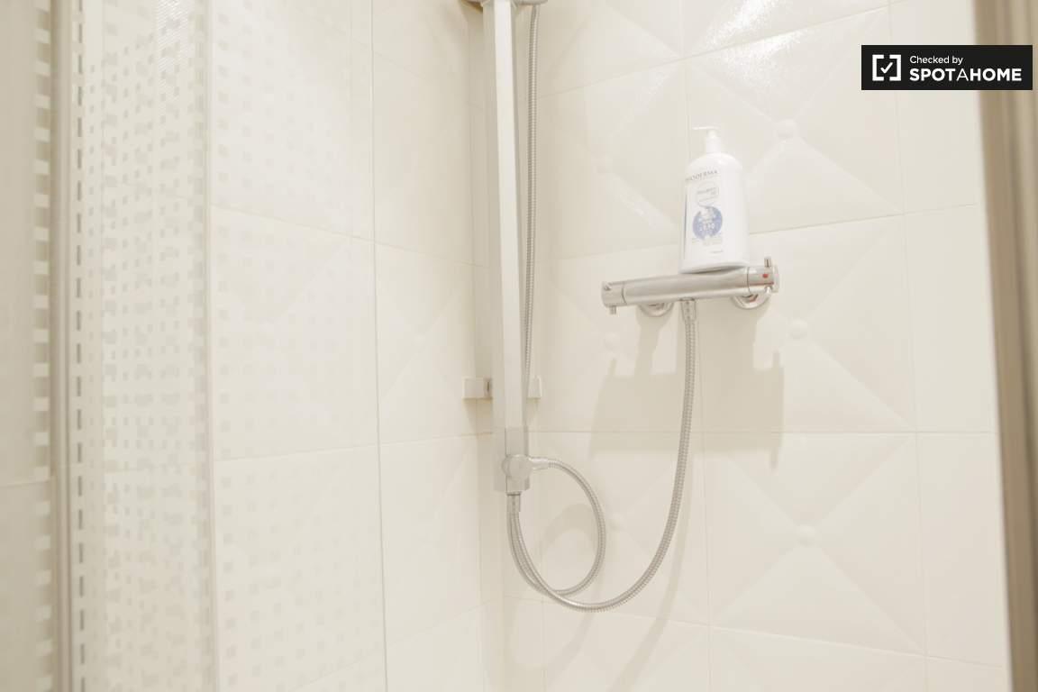 Bedrooms 1 & 2, shower & sink