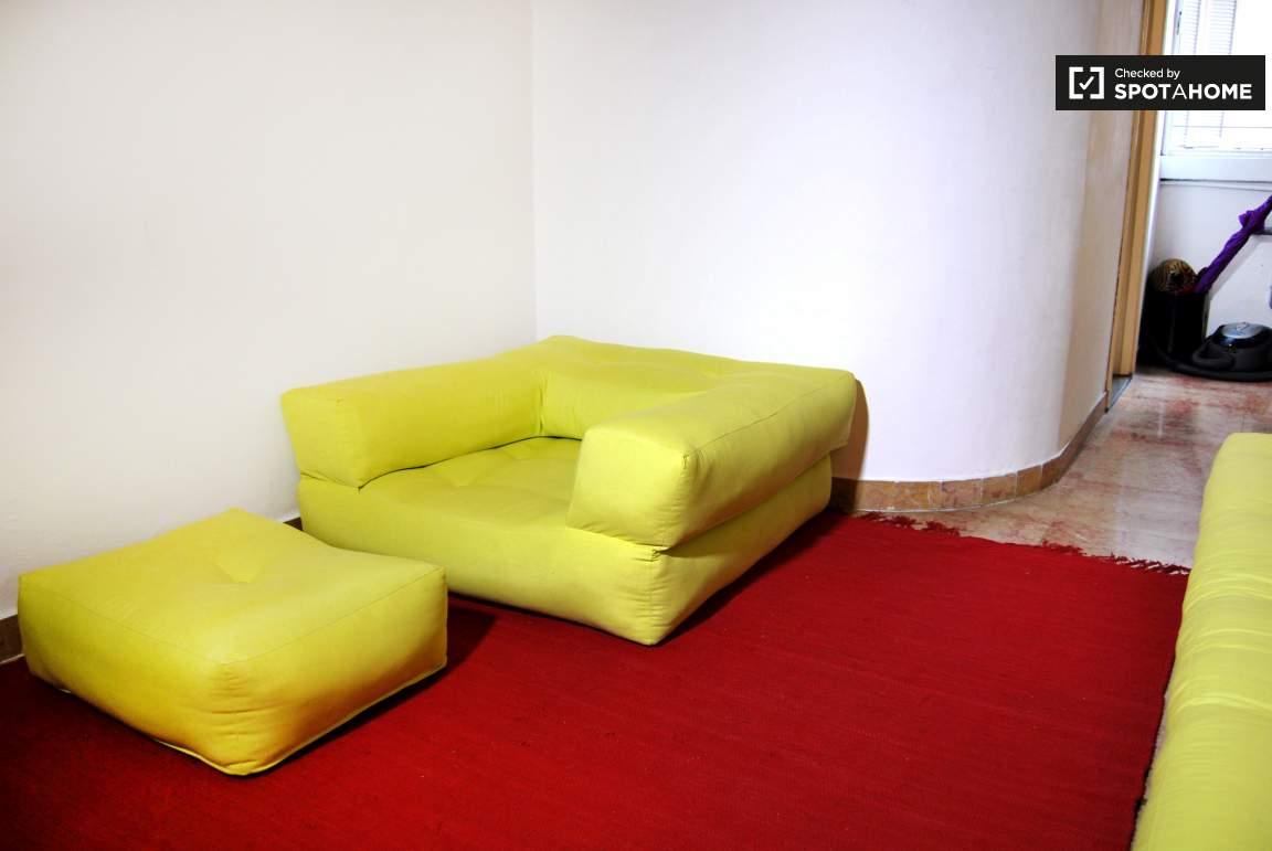 Sofa at the entrance
