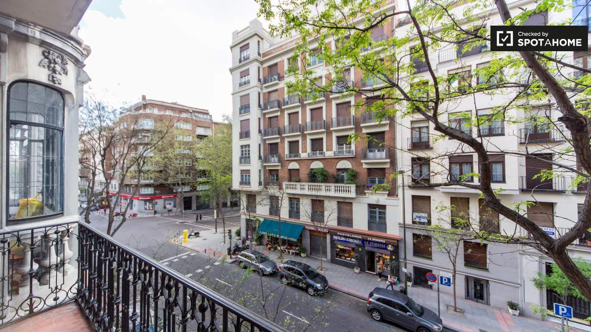 Street view from one of the balconies