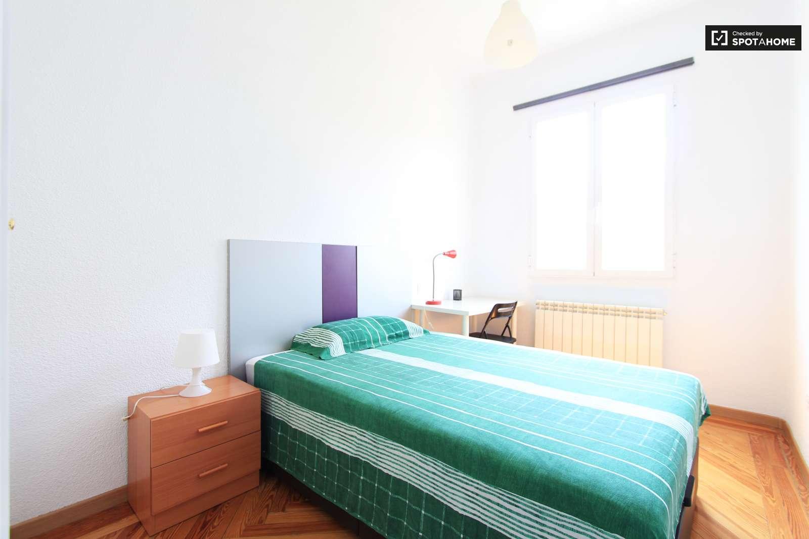 Luminosa habitaci n en piso compartido en chamber madrid for Piso una habitacion madrid