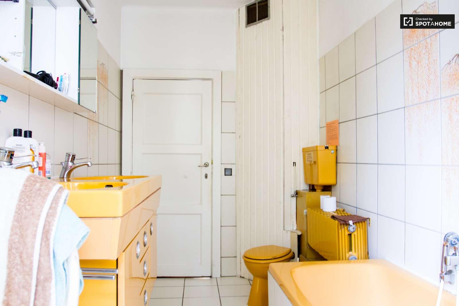 Grande chambre dans un appartement etterbeek for Salle de bains in english