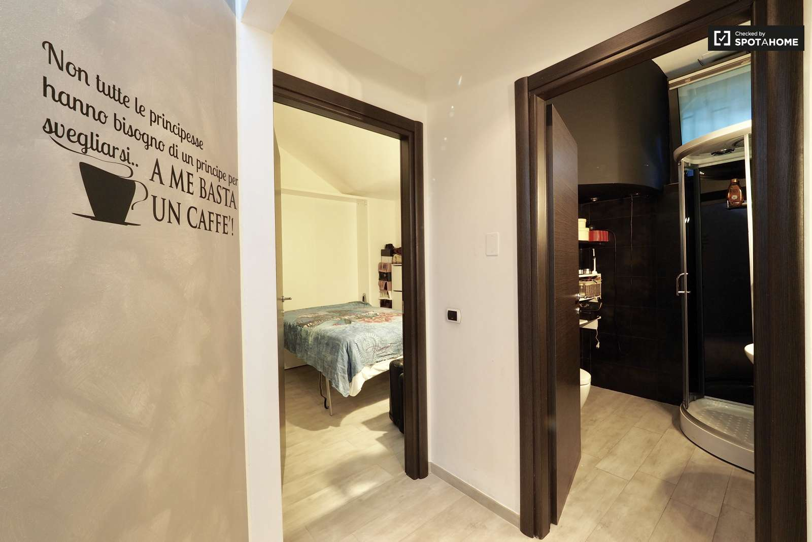 Basement Apartment Entrance. Trendy 2 bedroom basement apartment for rent in Turro  Milan ref