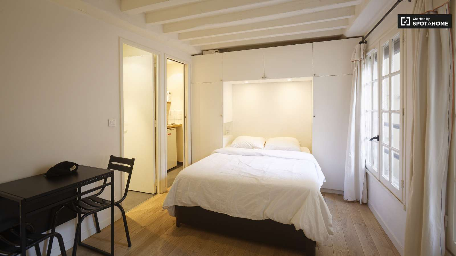 Studio Apartment Paris luminous studio with modern furniture in louvre, paris 1 | spotahome