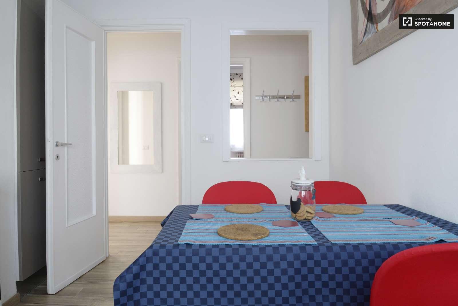 Stanza esterna in un appartamento in affitto barona for Planimetrie della sala da pranzo della cucina aperta
