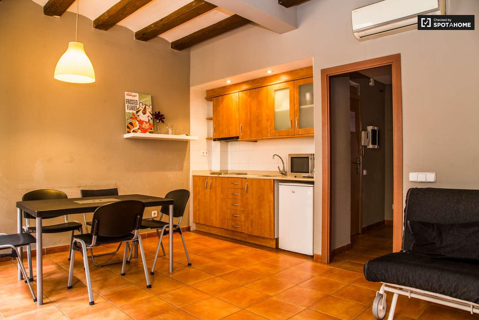 Espacioso piso de 2 camas en alquiler el raval barcelona for Pisos de alquiler en camas
