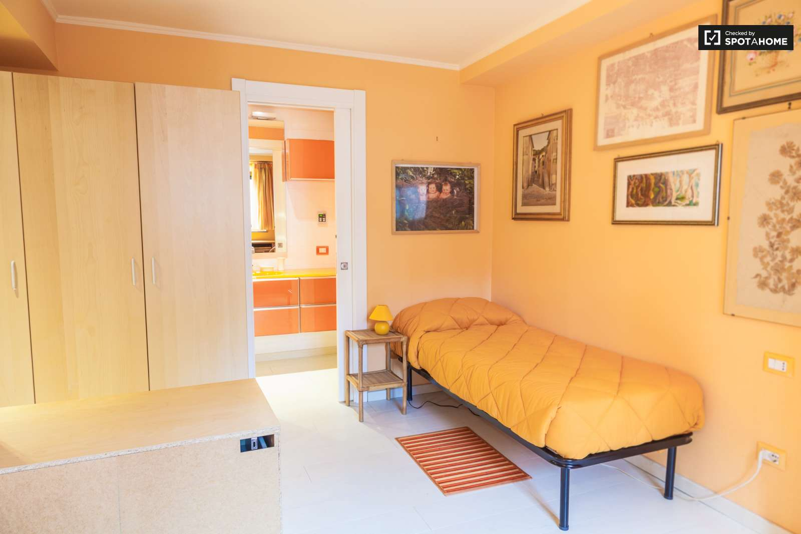 Furnished room in 2 bedroom apartment in rome ref 90110 for Furnished room
