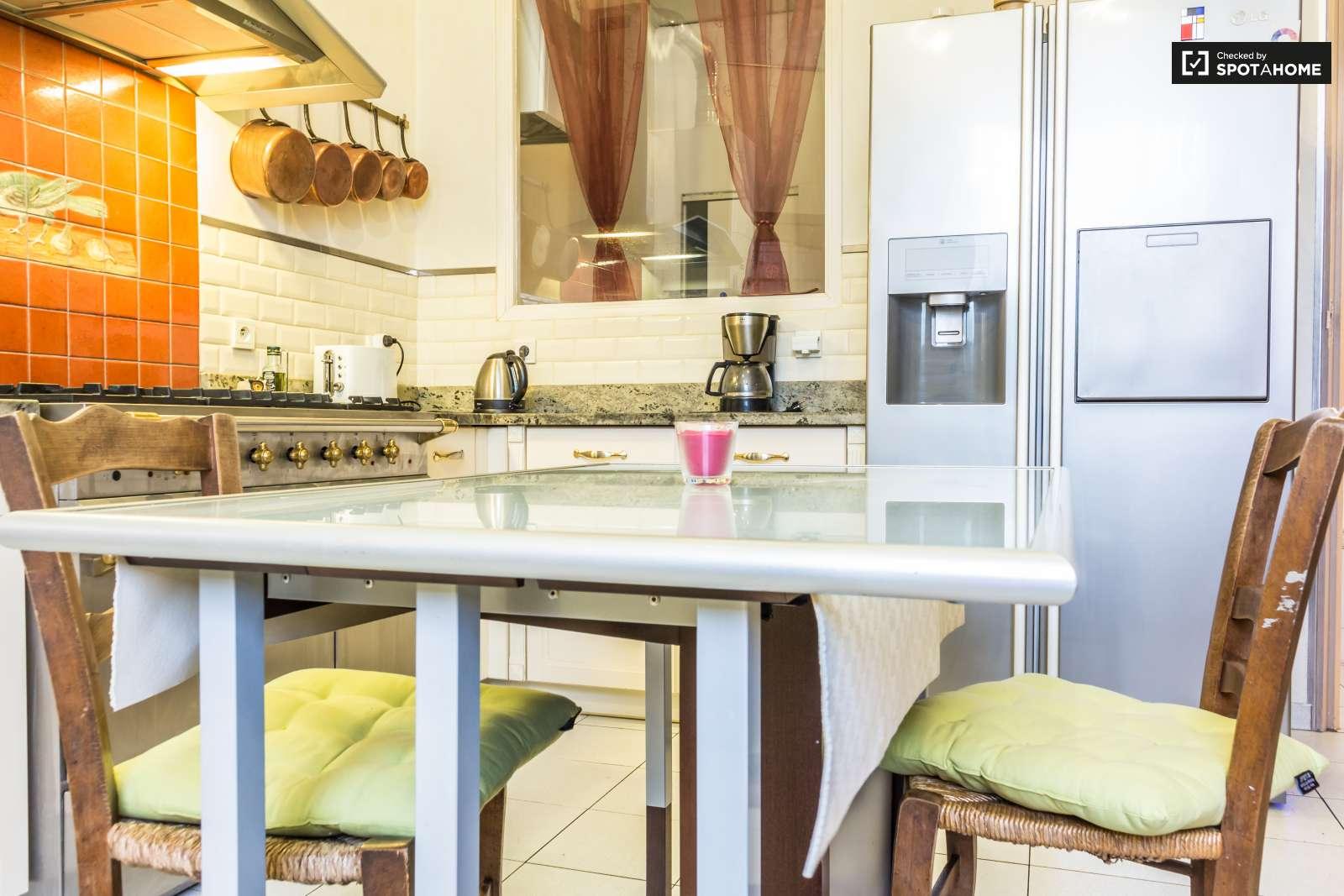 Chambre confortable dans un appartement dans le 7e for Extra cuisine lyon