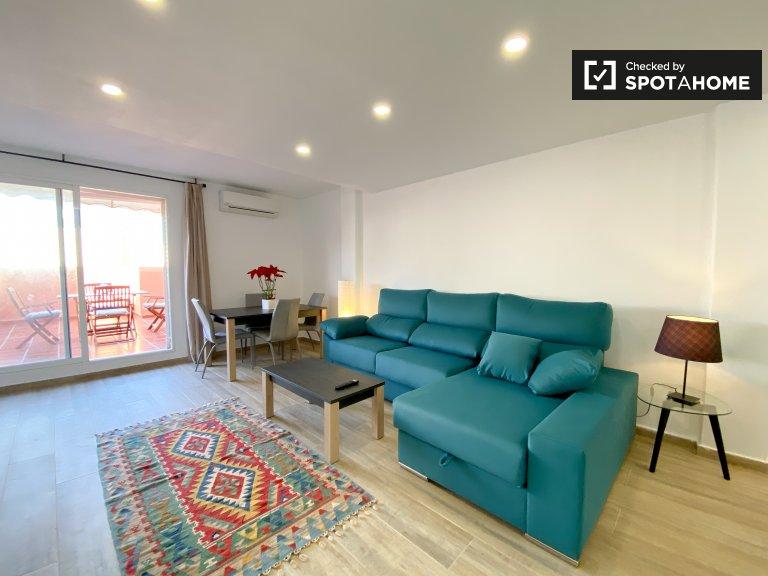 Moderne 2-Zimmer-Wohnung zur Miete in Jesús, València