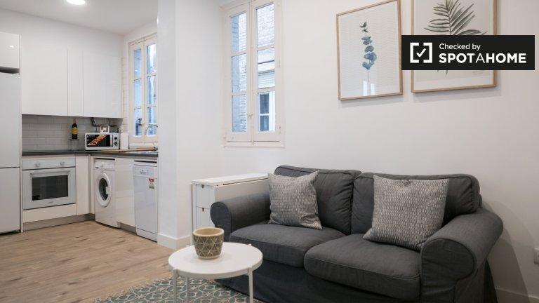 Moderne 2-Zimmer-Wohnung zur Miete in Atocha, Madrid