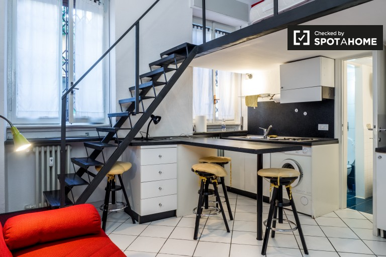 Spacious studio apartment for rent in Washington, Milan