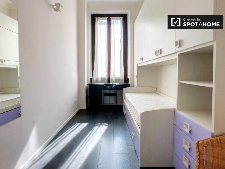 Łóżko do wynajęcia w apartamencie z 2 sypialniami, Morivione, Mediolan